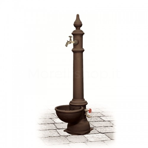 Fontana da giardino in ghisa Mod. MONACHELLA GRANDE BROWN Morelli - Arredo esterno