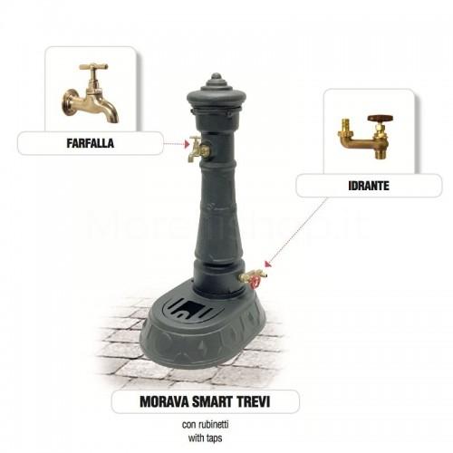 Fontana da giardino in ghisa Mod. MORAVA SMART TREVI Morelli - Arredo esterno