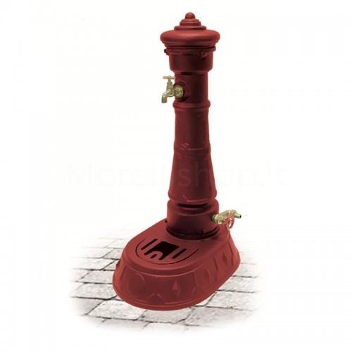 Fontana da giardino in ghisa Mod. MORAVA SMART RED Morelli - Arredo esterno