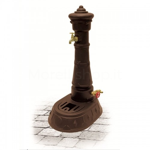 Fontana da giardino in ghisa Mod. MORAVA SMART BROWN Morelli - Arredo esterno
