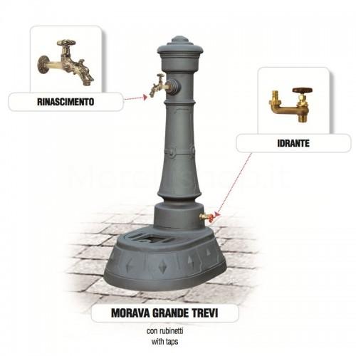 Fontana da giardino in ghisa Mod. MORAVA GRANDE TREVI Morelli - Arredo esterno