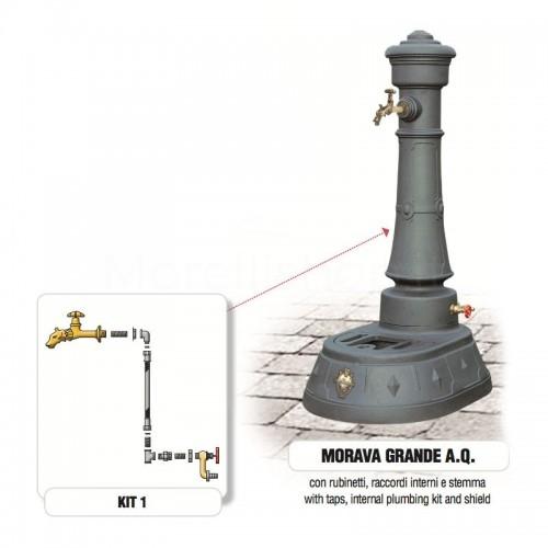 Fontana da giardino in ghisa Mod. MORAVA GRANDE AQ Morelli - Arredo esterno