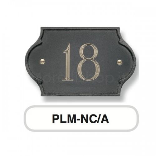 Numero Civico antracite Mod. PLM-NC/A Morelli su lastra di ottone