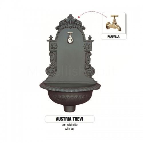 Fontana a muro in ghisa Mod. AUSTRIA TREVI Morelli -...