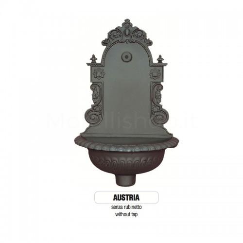 Fontana a muro in ghisa Mod. SOLO CORPO AUSTRIA - PERSONALIZZABILE Morelli - Fontana giardino