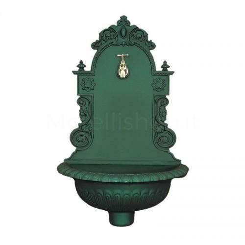 Fontana a muro in ghisa Mod. AUSTRIA GREEN Morelli - Fontana giardino