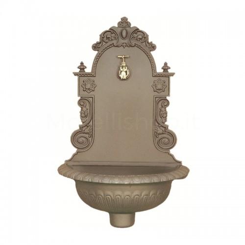 Fontana a muro in ghisa Mod. AUSTRIA BEIGE Morelli - Fontana giardino