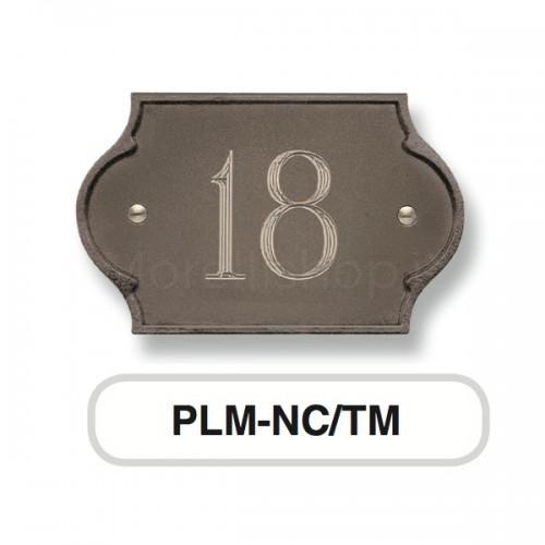 Numero Civico testa di moro Mod. PLM-NC/TM Morelli su lastra di ottone