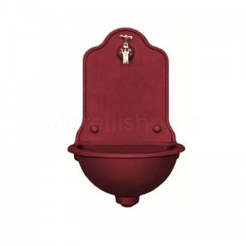 Fontana a muro in ghisa Mod. ISEO PICCOLA RED Morelli - Fontana giardino