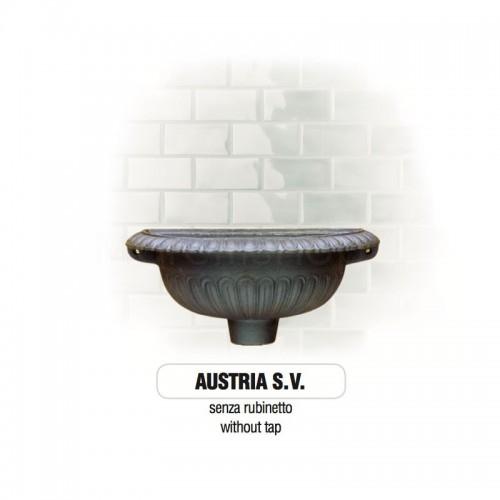 Fontana a muro in ghisa Mod. SOLO CORPO AUSTRIA SV Morelli - Arredo esterno