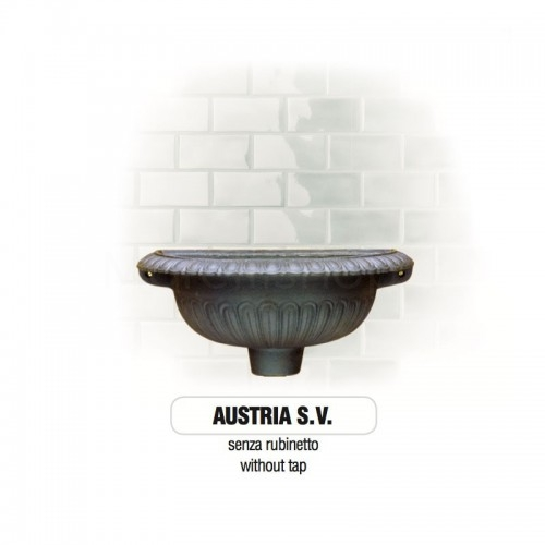 Fontana a muro in ghisa Mod. SOLO CORPO AUSTRIA SV...