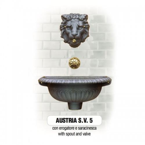 Fontana a muro in ghisa Mod. AUSTRIA SV 5 Morelli - Arredo esterno