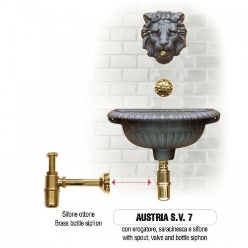 Fontana a muro in ghisa Mod. AUSTRIA SV 7 Morelli -...