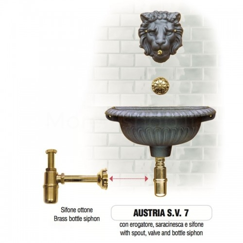 Fontana a muro in ghisa Mod. AUSTRIA SV 7 Morelli - Arredo esterno