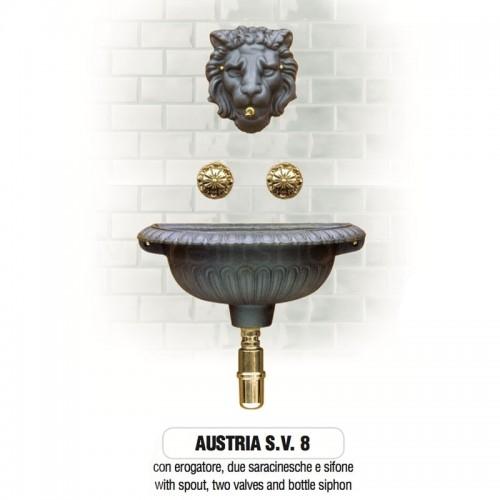 Fontana a muro in ghisa Mod. AUSTRIA SV 8 Morelli -...