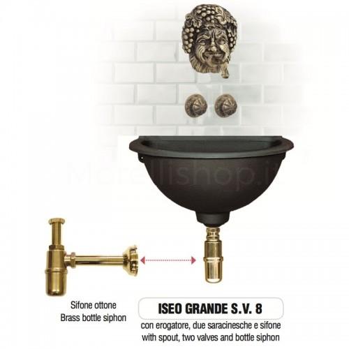 Fontana a muro in ghisa Mod. ISEO GRANDE SV 8 Morelli - Arredo esterno