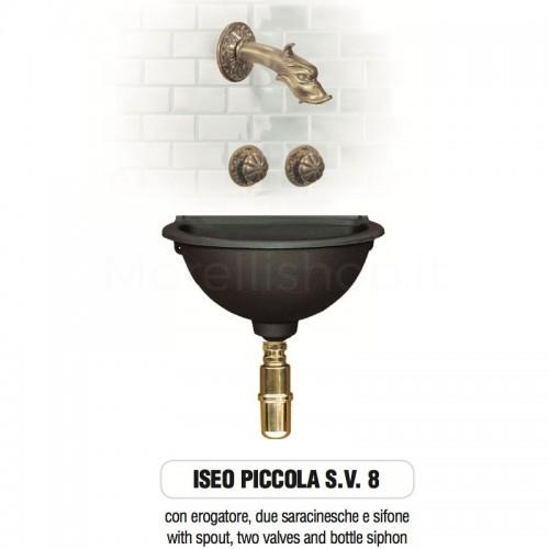 Fontana a muro in ghisa Mod. ISEO PICCOLA SV 8 Morelli - Arredo esterno