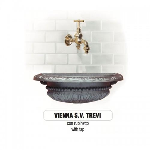 Fontana a muro in ghisa Mod. VIENNA SV TREVI Morelli -...