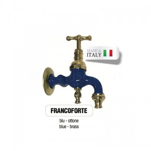 Servizio di verniciatura colore BLU RAL 5005 per rubinetti in ottone Morelli