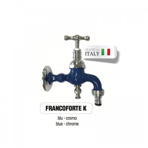 Servizio di verniciatura colore BLU RAL 5005 per rubinetti in ottone Cromato Morelli
