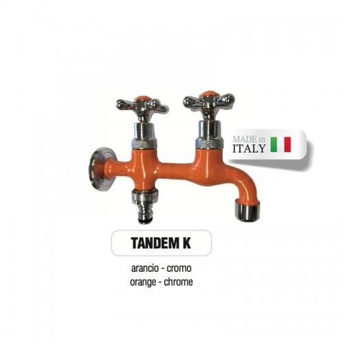 Servizio di verniciatura colore ARANCIONE RAL 2011 per rubinetti in ottone Cromato Morelli