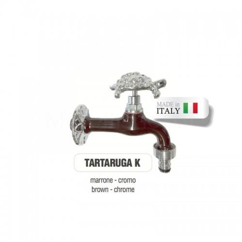 Servizio di verniciatura colore MARRONE RAL 8011 per rubinetti in ottone Cromato Morelli