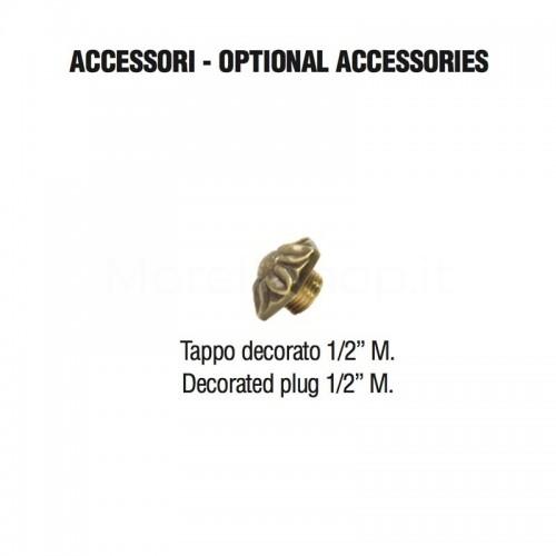 Tappo in ottone decorato per Fontane a Muro Morelli
