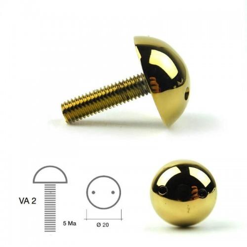 Viti antieffrazione in Ottone Cromato Mod. VA2OLN a testa cilindrica per Citofoni e Videocitofoni Morelli