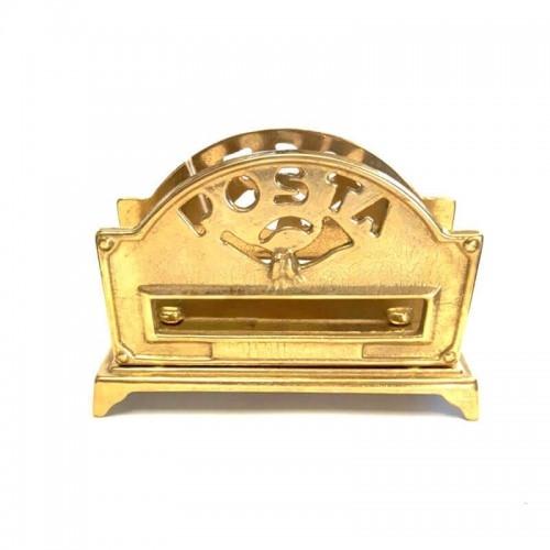 Porta posta portalettere in ottone da scrivania