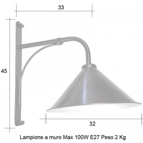 Lampione Mod. CIVITA 2 ferro battuto Morelli - Arredo giardino