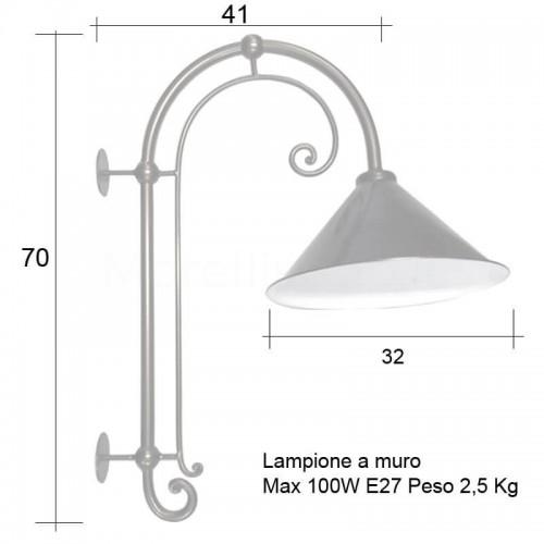 Lampione Mod. CORTONA 2 ferro battuto Morelli - Arredo giardino