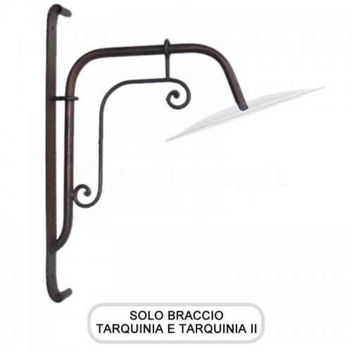 Lampione Solo Braccio per Mod. TARQUINIA e TARQUINIA 2 ferro battuto Morelli - Arredo giardino