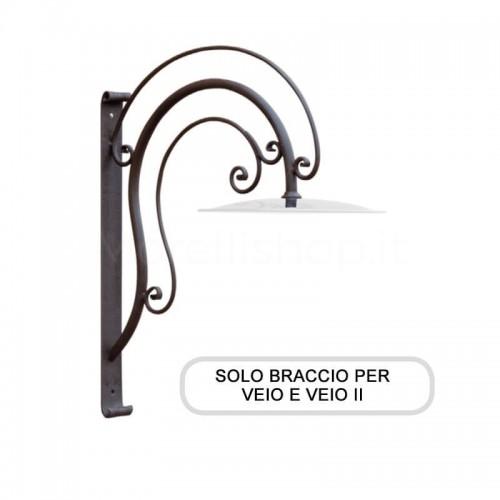 Lampione Solo Braccio per Mod. VEIO e VEIO 2 ferro battuto Morelli - Arredo giardino