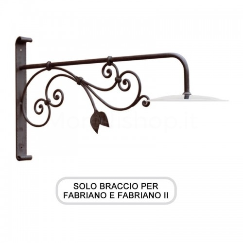 Lampione Solo Braccio per Mod. FABRIANO e FABRIANO 2 ferro battuto Morelli - Arredo giardino