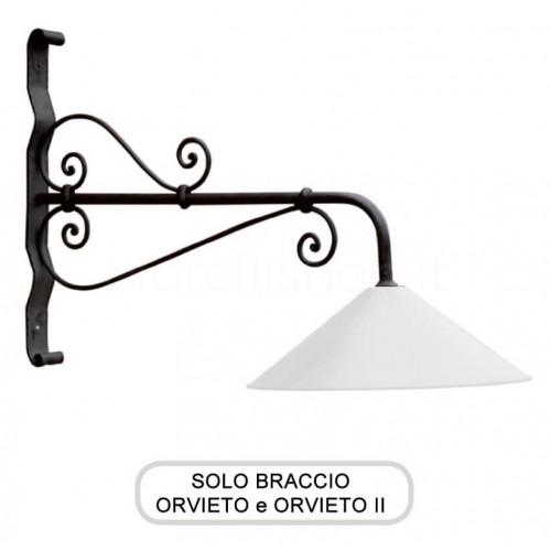 Lampione Solo Braccio per Mod. ORVIETO e ORVIETO 2 ferro battuto Morelli - Arredo giardino