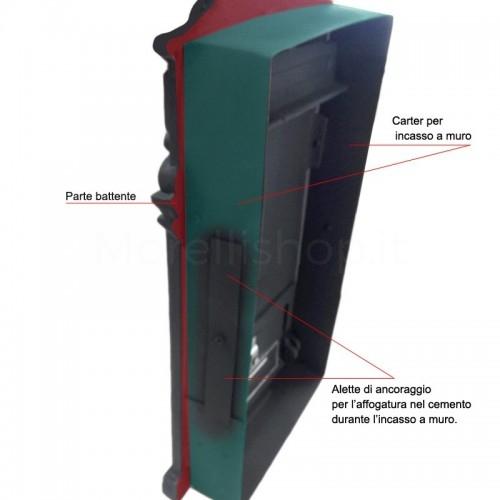 Cassetta postale da incasso Mod.PRG/RVS Morelli ghisa verniciata antracite