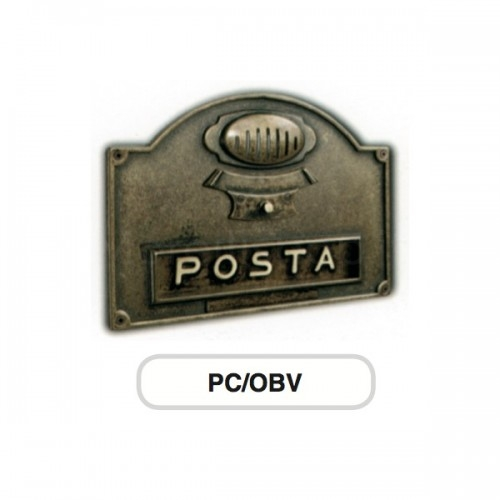 Asola ottone brunito Mod. PC/OBV Morelli con Campanello e Citofono per cassetta postale