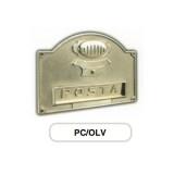 Asola ottone Mod. PC/OLV Morelli con Campanello e Citofono per cassetta postale