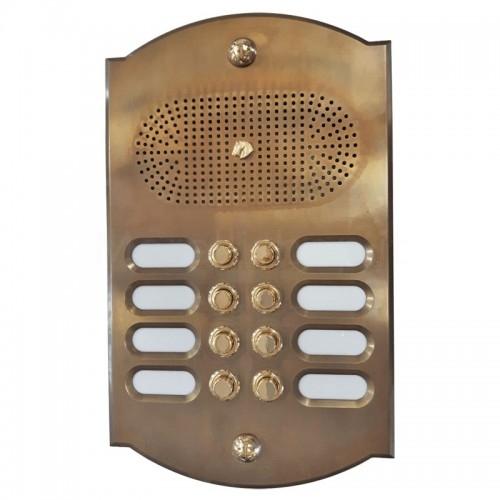 Citofono campanello 8 NOMI Mod. 8PLMORO/CPT ottone BRUNITO Alta Qualità Morelli - PEZZO UNICO