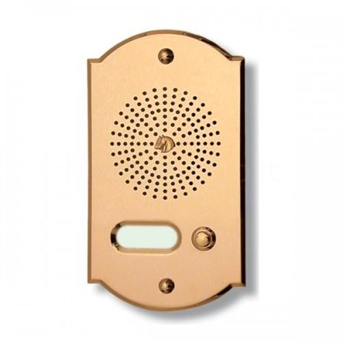 Citofono campanello 1 NOME Mod. 1PLMORO/CPT ottone Alta Qualità Morelli