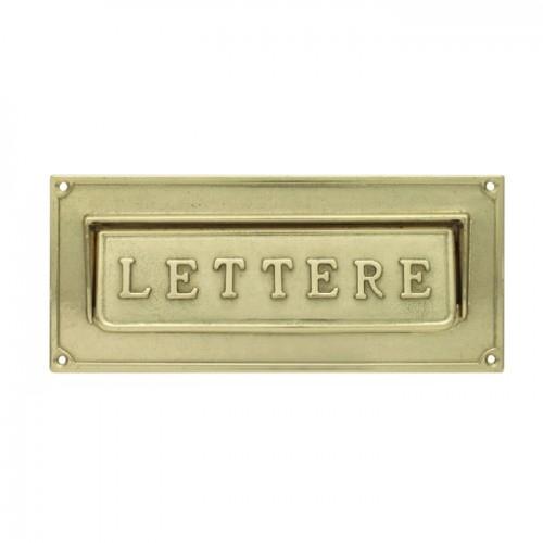 Asola ottone Mod. LT/O Morelli per cassetta postale