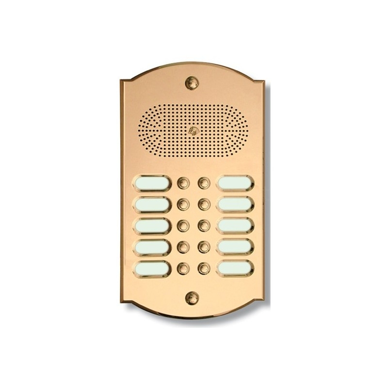 Citofono campanello 10 NOMI Mod. 10PLMORO/CPT ottone Alta Qualità Morelli
