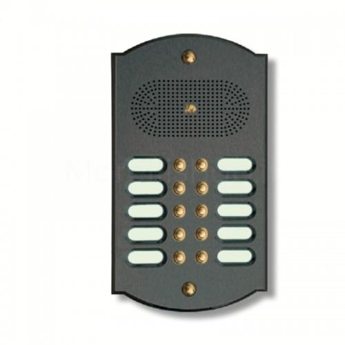 Citofono campanello 10 NOMI Mod. 10PLMORO/A ottone antracite Alta Qualità Morelli