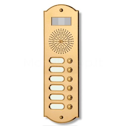 Videocitofono campanello 6 NOMI antracite base ottone Alta Qualità Morelli
