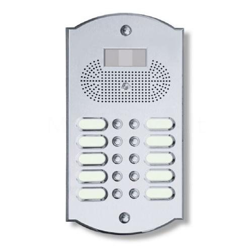 Videocitofono campanello 10 NOMI ottone cromosatinato Alta Qualità  Morelli