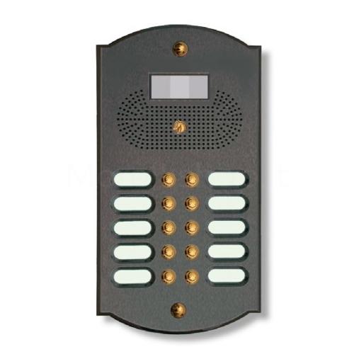 Videocitofono campanello 10 NOMI antracite SU base ottone Alta Qualità Morelli