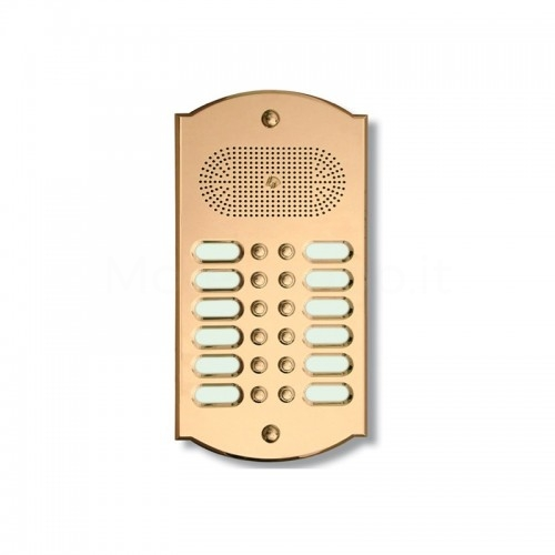Citofono campanello 12 NOMI Mod. 12PLMORO/CPT ottone Alta Qualità Morelli