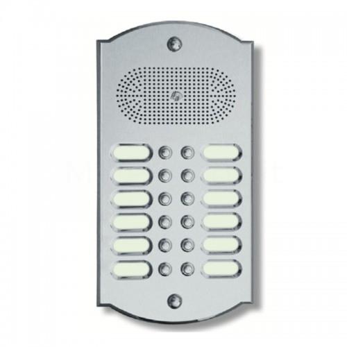 Citofono campanello 12 NOMI Mod. 12PLMORO/K ottone cromo satinato Alta Qualità Morelli