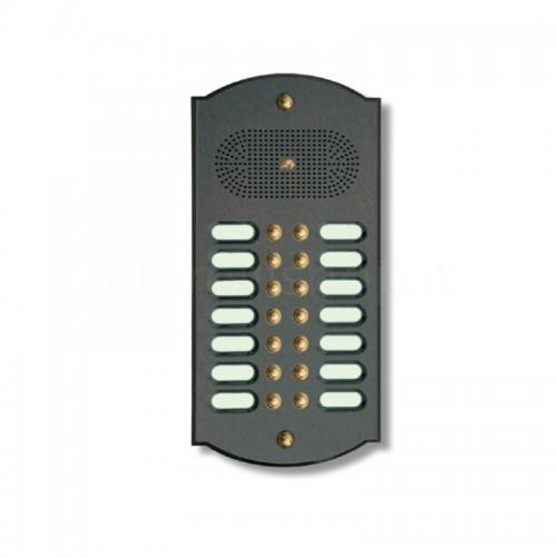 Citofono campanello 14 NOMI Mod. 14PLMORO/A ottone antracite Alta Qualità Morelli