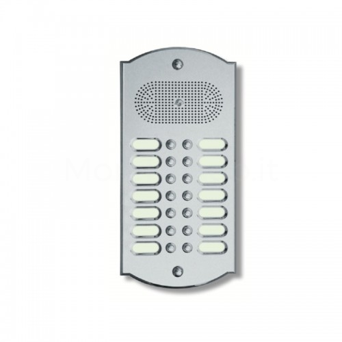 Citofono campanello 14 NOMI Mod. 14PLMORO/K ottone cromo satinato Alta Qualità Morelli